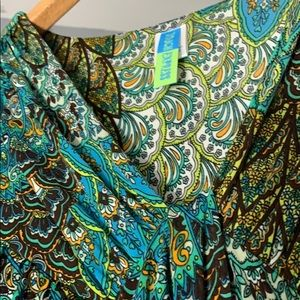 Touch Express Dresses - NWT Vintage Flirty Peacock Dress